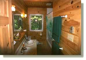 double sinks and lots of wood